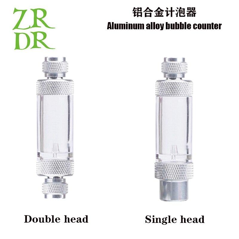 ZRDR aquarium Check Valve-Regulator Diffuser Reactor Single-Head or Dual-Head Aquarium CO2 Bubble Counter Air Pump Accessories