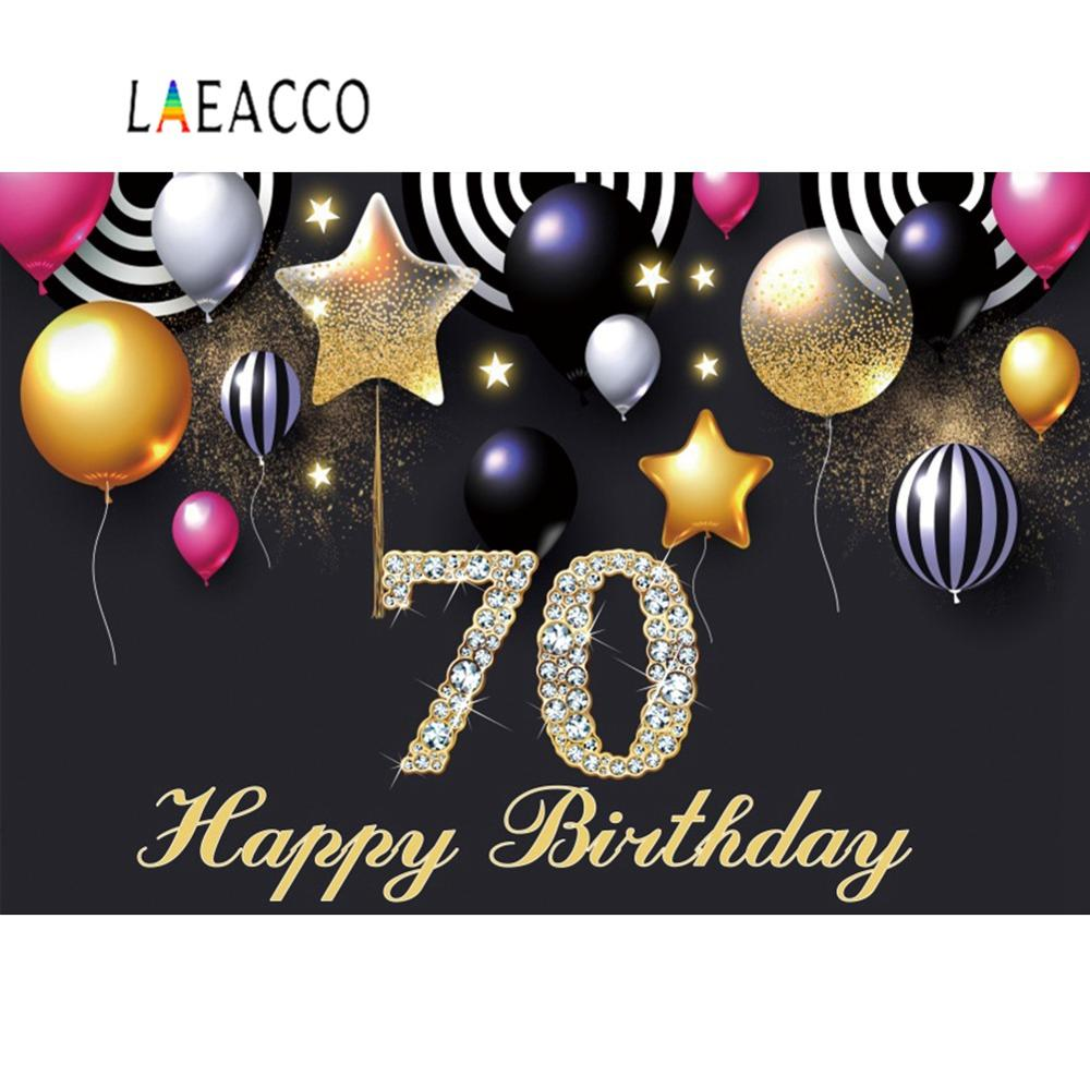 HAPPY 70th BIRTHDAY 5X3 FEET POLYESTER CLOTH FLAG 70 YEARS OLD PARTY CELEBRATION
