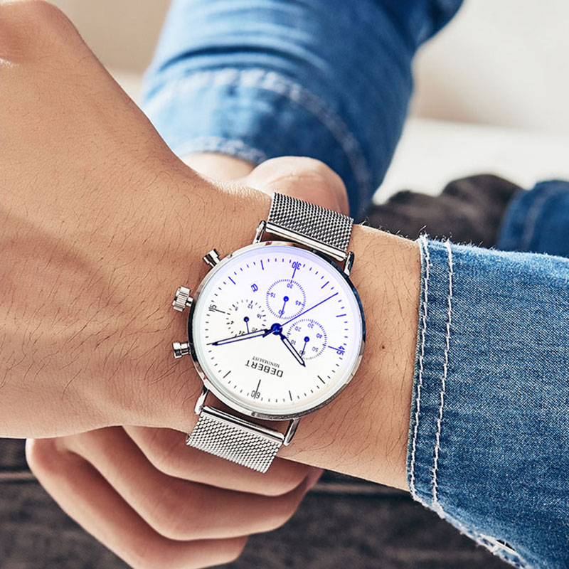 Debert Fashion Watch Men Male Top Brand Luxury Quartz Wristwatches Men Casual Slim Dress Waterproof Sport WristWatch Relogio