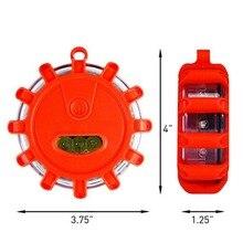 Сильный магнитный световой сигнал, запасное освещение дисковый СВЕТОДИОДНЫЙ дорожный осветительный прибор для безопасности дорожного движения для мигающего налобный фонарь безопасности автомобилей