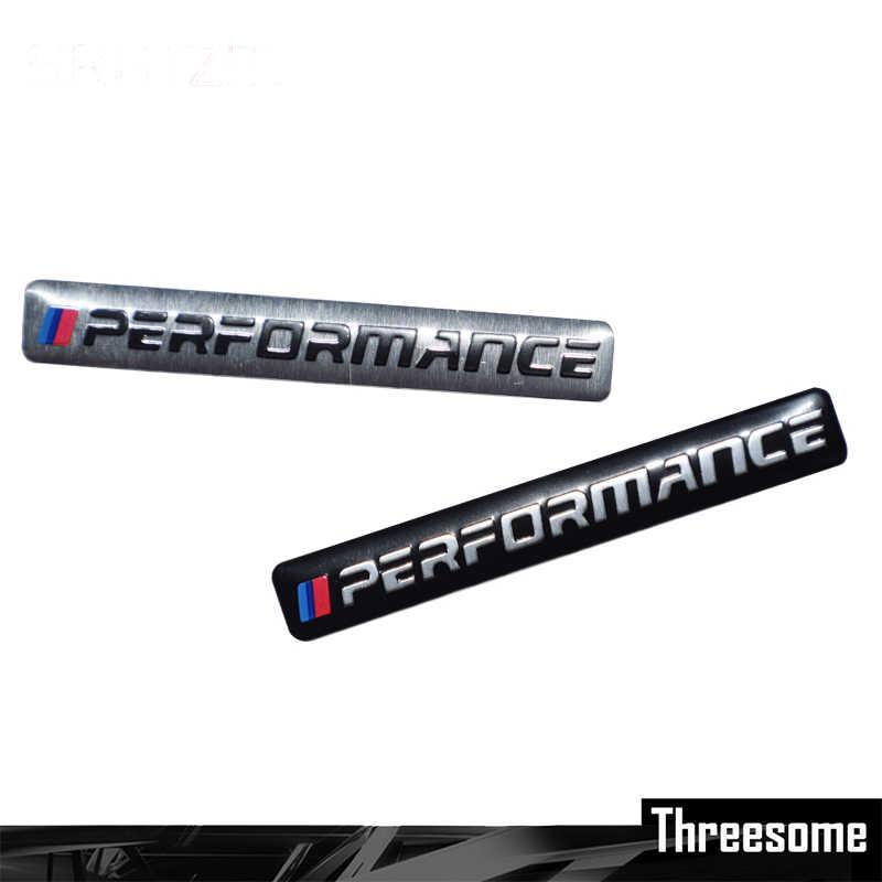 SRXTZM 1PCS Car Decal Logo Distintivo Accessori Auto Sticker M Power Alte Prestazioni Per BMW M 1 3 4 5 6 7E Z X M3 M5 M6 Mline Emblema