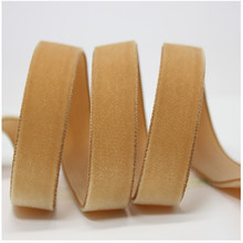 Velvet Ribbon 100% polyester single-faced satin ribbon with high quality solid color velvet