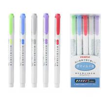 1 шт mildliner двухголовый маркер фломастер японская флуоресцентная