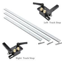 NE 800 /1000 /1220mm t track t slot con scala Bar tavolo sega lavorazione del legno strumento banco da lavoro lega di alluminio pista Jig apparecchio t slot
