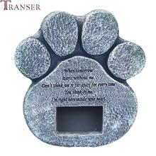 Transer в форме лапы, надгробная плита для щенков, сувенир, памятный камень для питомцев, памятник для питомцев, поставка 9107