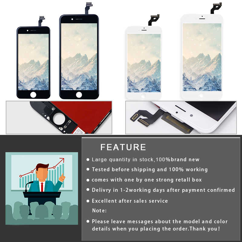AAA + + + עבור iPhone 6 6S 7 8 בתוספת LCD עם 3D כוח מגע מסך Digitizer עצרת עבור iPhone 5S 5 תצוגה לא מת פיקסל + כלי