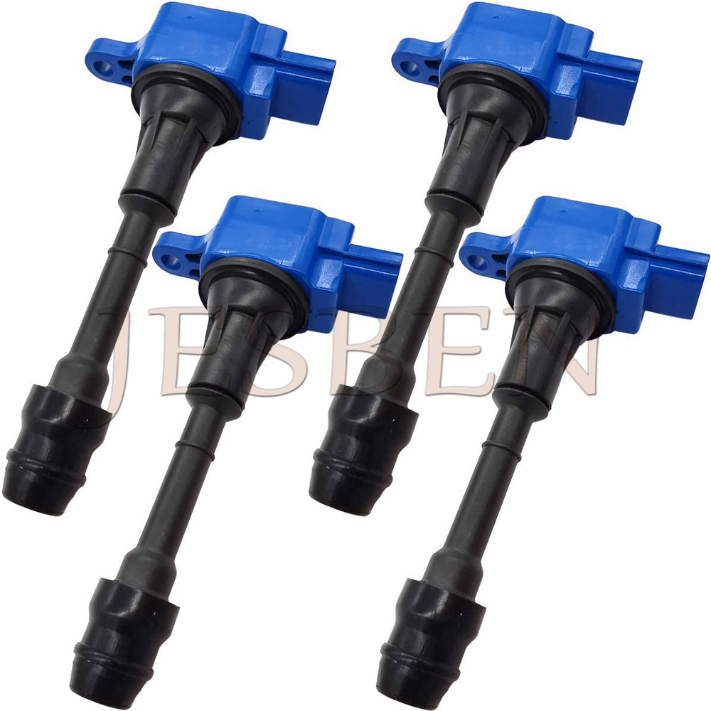 Pack of 4 Ignition Coils for 2002-2008 Nissan Altima Sentra X-Trail 2.5L UF350 22448-8H315 22448-8H310 C1398 UF-350