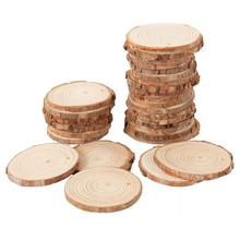 40 sztuk 3-4CM niedokończone naturalne drewno okrągłe plastry koła z drzewa kora dziennika dyski dla DIY rzemiosło strona dekoracji domu tanie tanio CN (pochodzenie) log color approx 34cm approx 0 5cm 40pcs Wood Slices