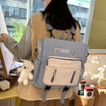 2021 New Fashionable girl multi-function Backpack Korean Bump color Campus style Students Schoolbag Japanese Casual Travel bag