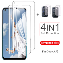 4 IN 1 Protective Tempered Glass On orro opo a52 for OPPO A52 Screen Protector for oppo a52 Camera Lens Film 6.52'' protection