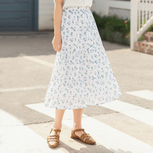 INMAN 2020 Summer New Arrival Pure And Fresh Shivering A-line Leisure Slimmed Skirt