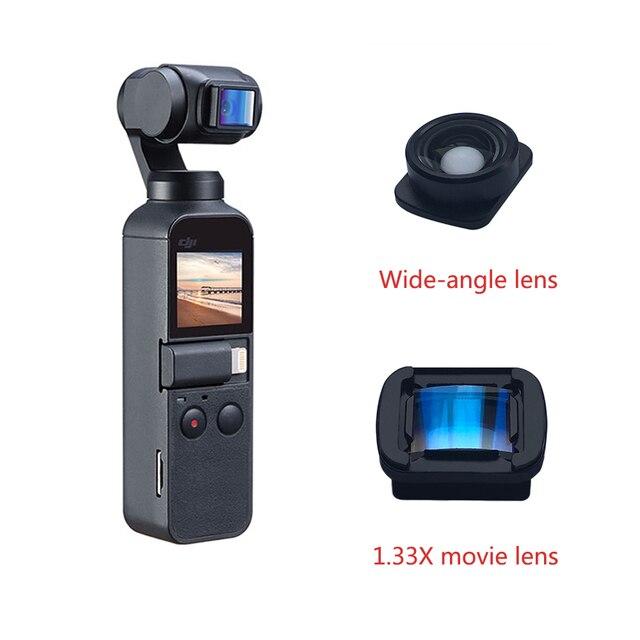 1.33x lente grande angular anamorphic para dji osmo bolso 2 vlog vídeo tiro leve lente portátil cardan handheld acessórios