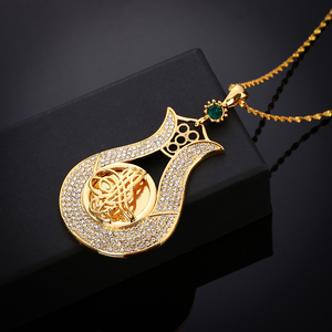 Image 4 - Crystal Muslim Islam Coin Necklace Women/Men Gold Color Turkey Wedding Jewelry Turkish Coin Lucky Allah Pendant Never Faded
