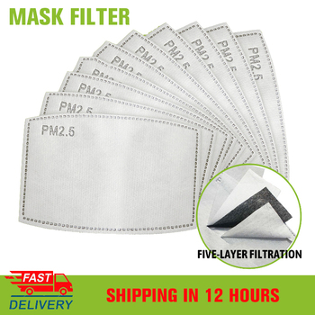 10/20/50/100PCS 5 Layers PM2.5 Filter Mask Paper Activated Carbon Filters for Masks Anti Dust Haze Adult Child Face Mask Filter