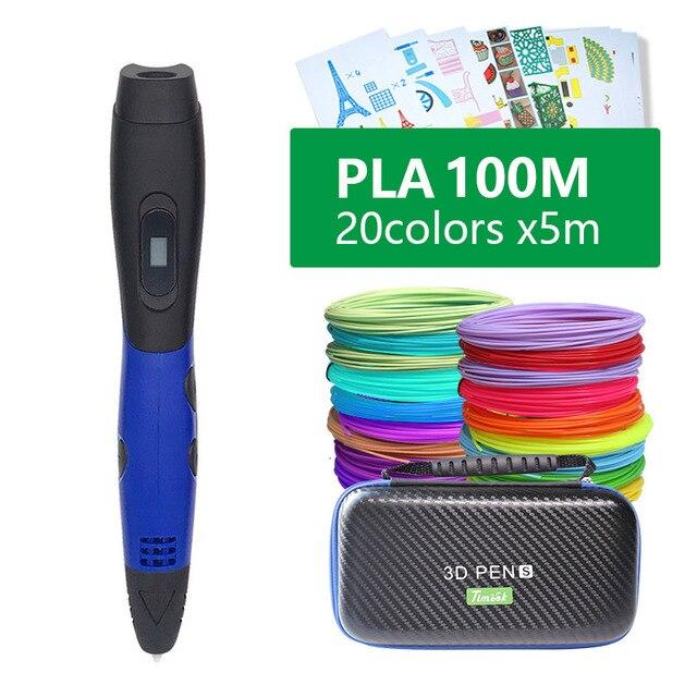 3d עט 3d עטים, מתנה לשנה חדשה יום הולדת הווה חג המולד, 3 d עט 3d דגם, creative 3d הדפסת עט, 1.75mm ABS/PLA נימה