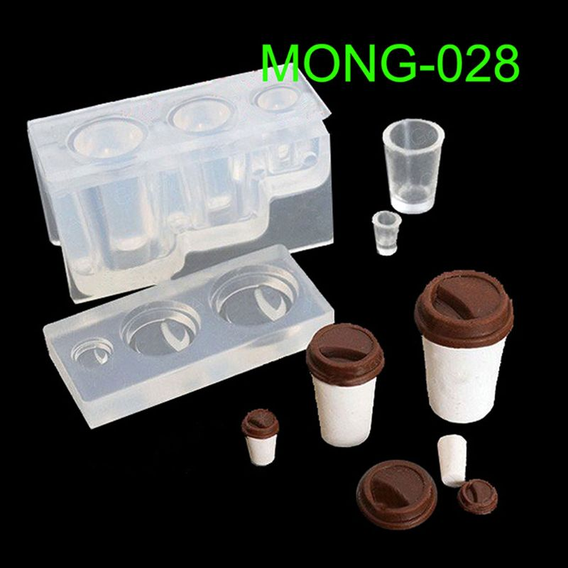 Drink Bottle Coffee Cup Honey Jar Resin Silicone Molds Epoxy Resin Jewelry Making Tools