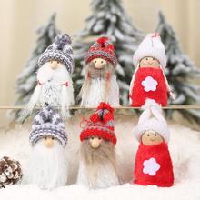 6Pcs Xmas Cute Cartoon Girl Doll Soft Plush Toy Hanging Pendant durable Christmas theme Tree Window Closet Decoration