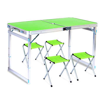 Outdoor Folding Table Chair Camping Aluminium Alloy Picnic Table Waterproof Ultra-light Durable Folding Table Self-driving