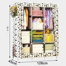 Strong Bearing Home Closet Storage fabric Cloth Cabinet Kids non Woven Wardrobe Zipper Metal Folded China