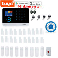 Tuya Smart WiFi 4G GSM Home Security Alarm Sysrtem 433MHz Wireless Burglar Alarm Kit Android iOS System APP Remote Control