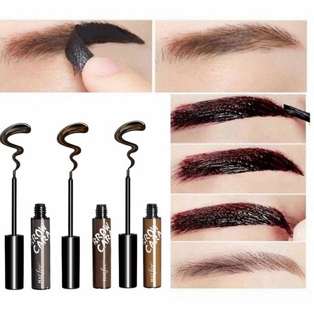 Makeup Eyebrow Enhancers Liquid Gel Long Lasting Waterproof Easy to Wear Tear Peel-off Brow Tattoo Tint Eyes Brows Natural 2