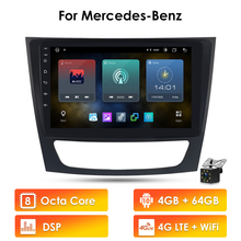 2G + 32GB Android 10 Auto GPS Stereo Einheit Player Für Mercedes Benz E Klasse W211/CLS W219/CLK W209/G Klasse W463 Multimedia autoradio