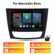 2g + 32gb android 10 carro gps unidade estéreo jogador para mercedes benz e class w211/cls w219/clk w209/g classe w463 multimídia autoradio