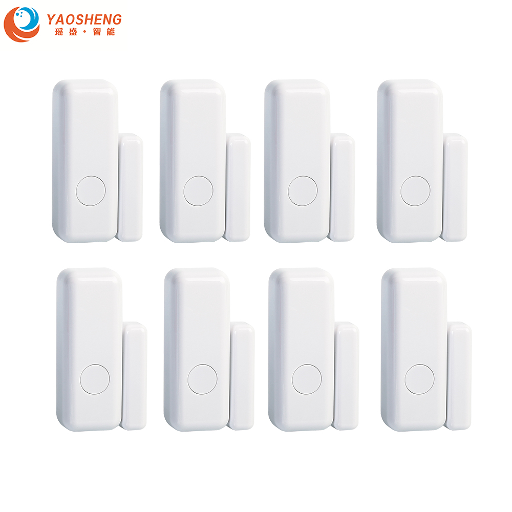 Wholesale 433MHz 1527 Wireless Intelligent Window Door Magnet Sensor Detector Open For  Smart Life Home Alarm System