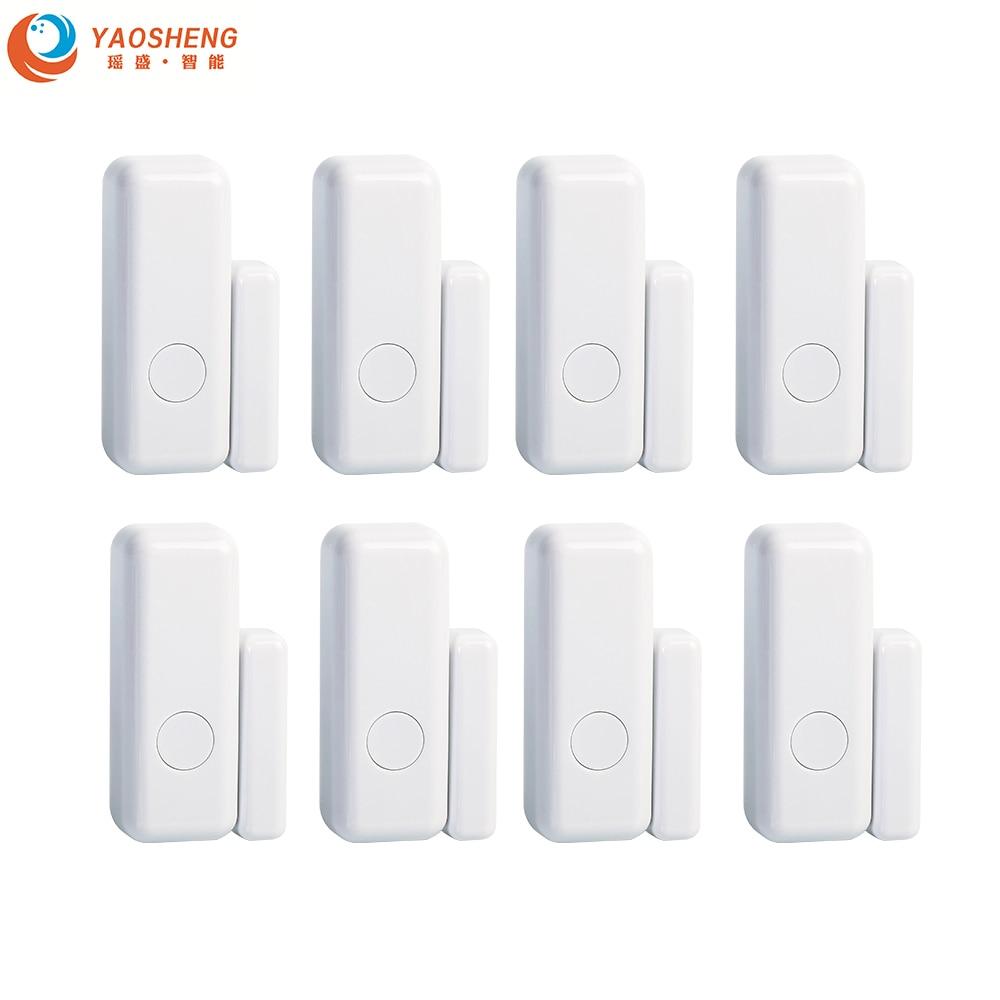 Wholesale 433MHz 1527 Wireless Intelligent Window Door Magnet Sensor Detector Open For  Smart Life Home Alarm System