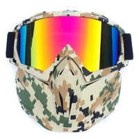Máscara facial ao ar livre tempo frio à prova de vento anti-nevoeiro equitação moto capacete óculos bb55