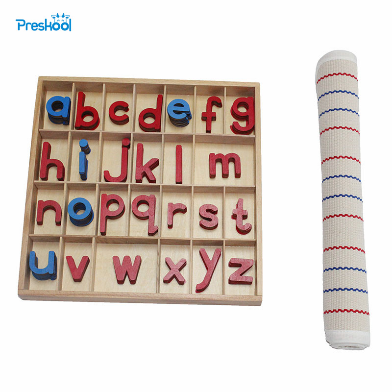 Montessori Language Instructions Activity Small Letter Box Letter Mat Early Childhood Montessori Educational Toys
