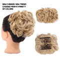 D IFEI синтетические волосы шиньон штук Большой Пучок шиньон два гребня клипсы на шиньон волосы для наращивания пучок для женщин