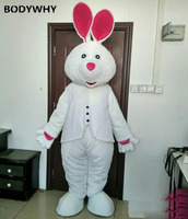 Easter Day Animal Costume Suit White Bunny Rabbit Mascot Costumes Suits Cosplay for Adult Advertising Promotion Dress