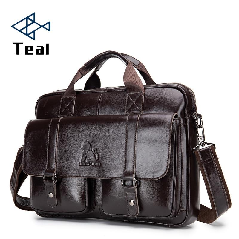 Men's Bag Briefcase Genuine Leather Office Laptop Bag For Men's Genuine Leather Bag Business Document Man Briefcase Handbag