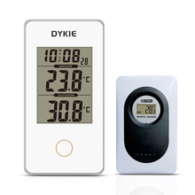 Promotion Wireless Weather Station Indoor Outdoor Digital Thermometer Alarm Clock 12/24 hour Wireless sensor стоимость
