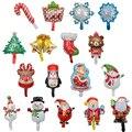 10 шт./компл., фольгированные шары мини-размера для Счастливого Рождества, снеговик, Санта-Клаус, украшения для рождественской елки, товары дл...