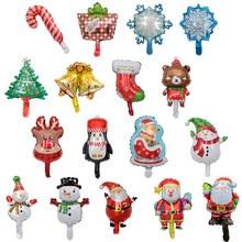 10 sztuk/zestaw mały rozmiar Happy Christmas Day z balonów foliowych Snowman mikołaj dekoracja na choinkę akcesoria świąteczne, na imprezę Globos