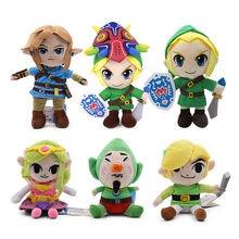 6 estilo 17-30cm zelda brinquedos de pelúcia bonito link menino zelda macio brinquedo de boneca de animais de pelúcia para crianças presentes de natal