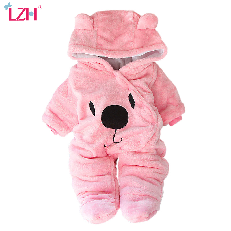 LZH Baby Winter Clothes Newborn Baby Girls Overall Autumn Baby Romper For Baby Boys Jumpsuit Christmas Costume Infant Clothing