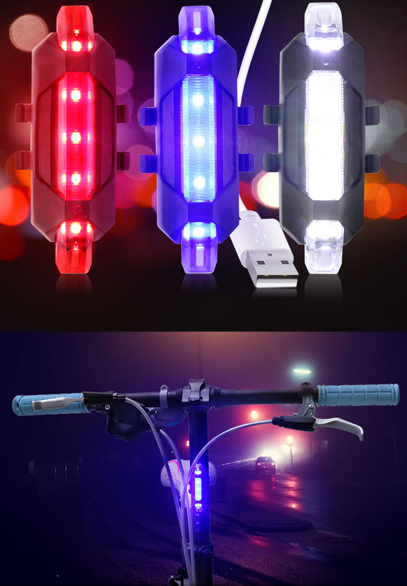 Bike Light Safety Warning Bicycle Taillights Rear Lamp Waterproof Super Bright LED Bicycle Light Flashlight Cycling Equipment