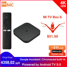 Originale Globale Xiaomi Mi TV Box S 4K Ultra HD Android TV 9.0 HDR 2G 8G WiFi google Cast Netflix Smart TV Mi Box 4 Lettore Multimediale(China)