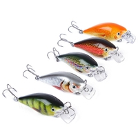 5Pcs Hard Fishing Lures Floating Wobblers Crank Hard Bait Sea Carp Fishing Lure Set Artificial Bait|Fishing Lures| |  -