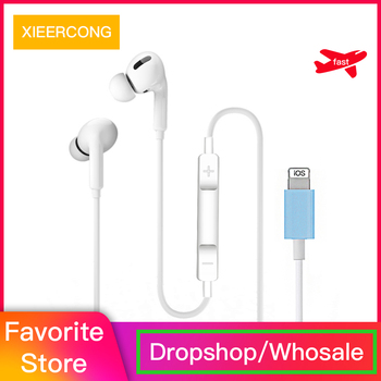 In Ear Stereo earphone  For Apple IPhone 7 headset with Microphone Wired Bluetooth  for IPhone 8 7 Plus X XR XS Max 10  earphone junerose jr i710 in ear stereo earphone w microphone for iphone samsung htc pink white