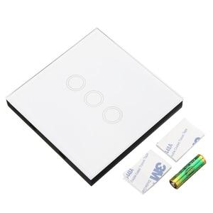 Image 2 - CLAITE 433MHz 1 2 3 canaux télécommande commutateur 86 mur tactile sans fil RF émetteur trempé apprentissage panneau de verre pour la maison