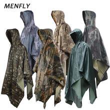 Menfly ПВХ кленовый лист камуфляж Приключения джунглей пончо