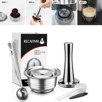 Cápsula reutilizable de acero inoxidable rellenable de 230 ml, juego de manipulación de cápsulas para brocha de café de la serie mespresso Vertuo Plus