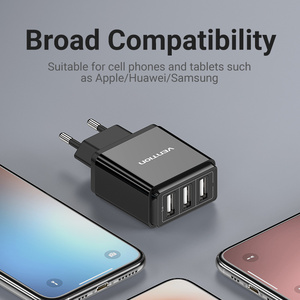 Image 5 - Vention USB Charger USB Wall Charger EU Adapter for iphone Xs 12 11 Samsung Huawei Mate 30 Xiaomi Fast Wall Mobile Phone Charger