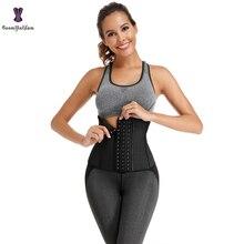 Corset Shaper Waist-Trainer Latex Short Weight-Loss Belt-Size Workout Women 9-Steel Torso