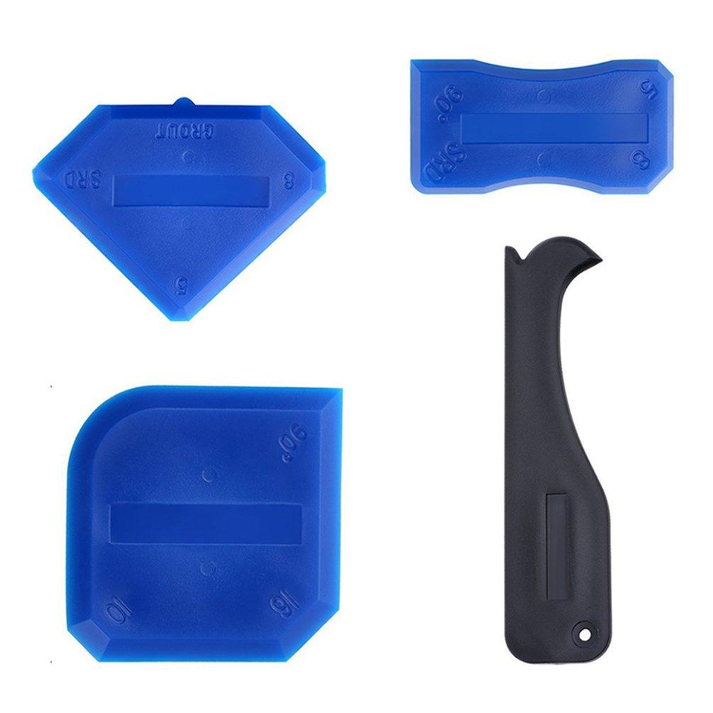 4 teile/satz Schönheit Nähen Werkzeug 4 Stück Set Silikon Glas Kleber Schaber Fliesen Mit Schaufel