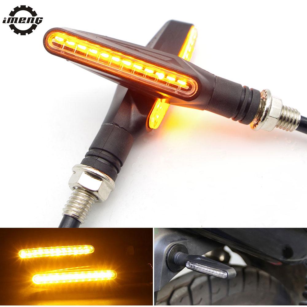 Universal Motorcycle LED Flowing Flashing Turn Singal FOR Yamaha Xt660x Benelli Tnt 135 BMW F800gs Honda Monkey Goldwing 1800
